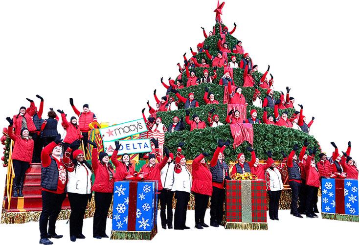 クリスマスツリーフロート&合唱団
