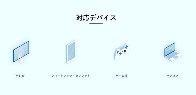 ユーネクスト対応デバイス